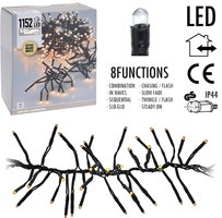 Clusterverlichting 1152 LED - 8.5m - extra warm wit